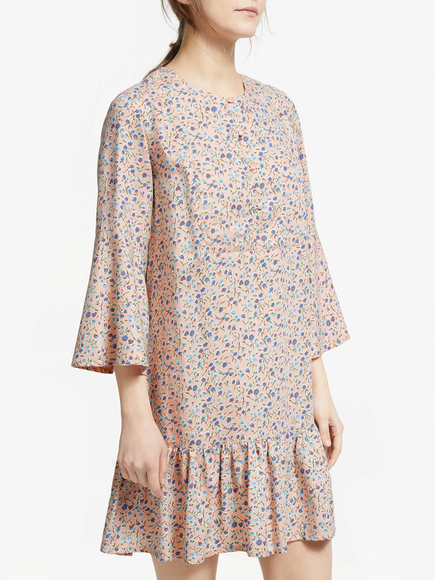 a9992b5f8ff Buy People Tree Adele Meadow Floral Dress, Pink, 8 Online at johnlewis.com  ...
