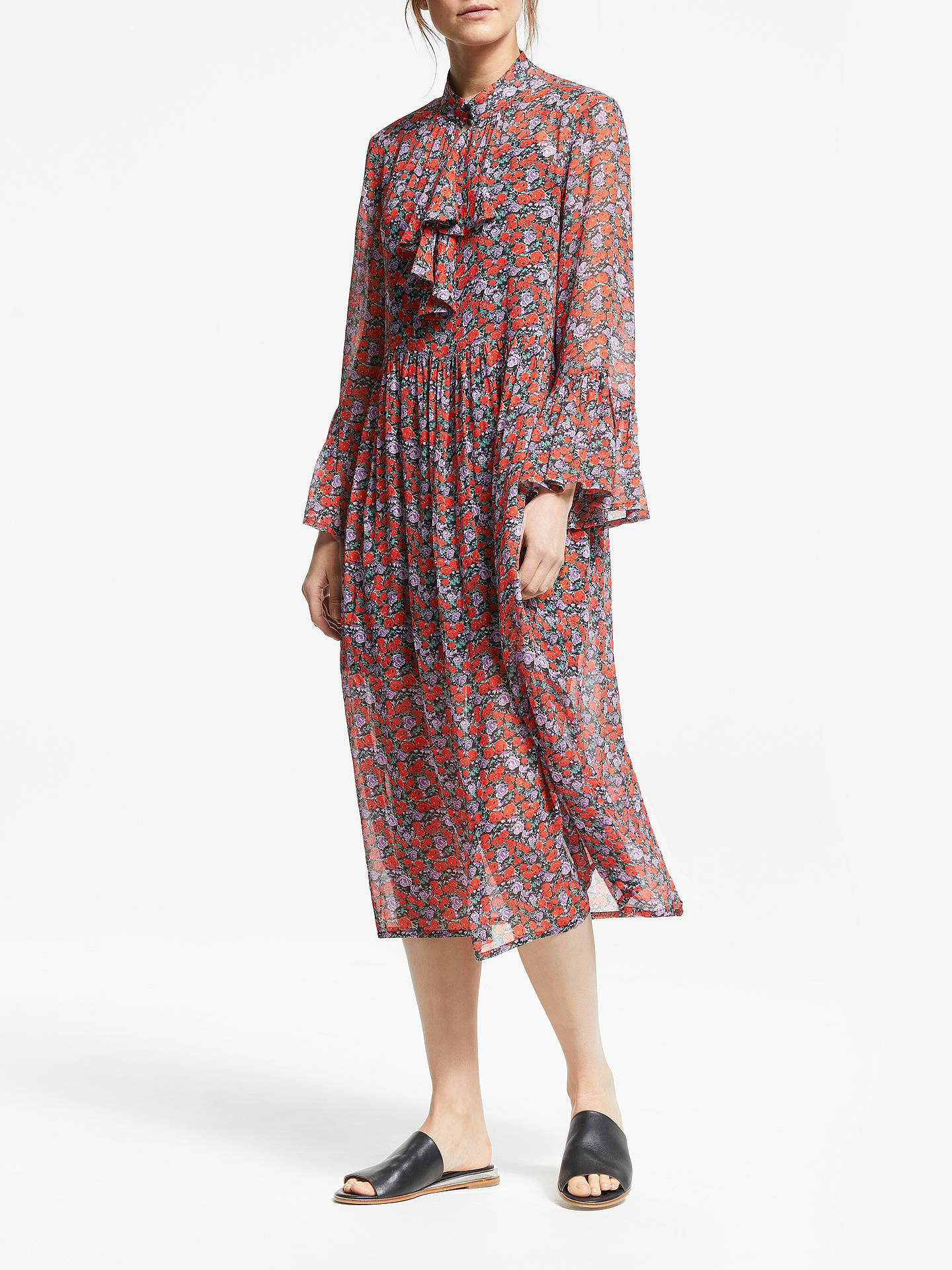 fa621ab7 Buy Gestuz Rosanna Long Dress, Red, 12 Online at johnlewis.com ...