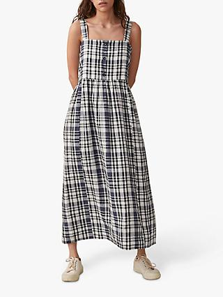 e9050ecb8b55 Toast Linen Check Maxi Dress