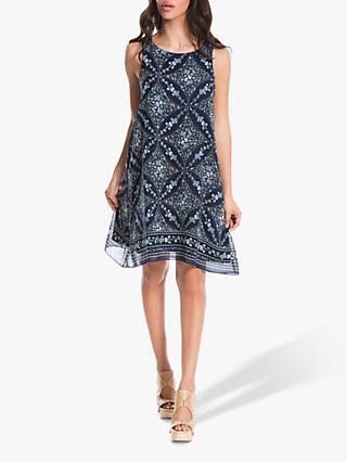 aca82c31b58b9f Max Studio Geometric Floral Sleeveless Dress