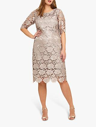 Studio 8 Rosalind Lace Dress, Mid Pink