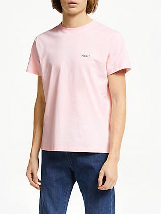 Maison Labiche Merci T-Shirt, Light Pink/White
