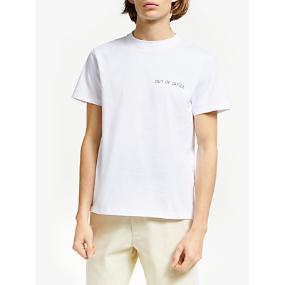 Maison Labiche Out of Office T-Shirt, White/Black