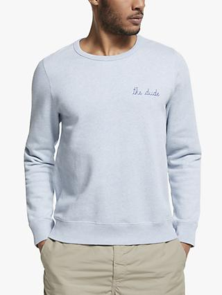 Maison Labiche The Dude Sweatshirt, Cloud Blue