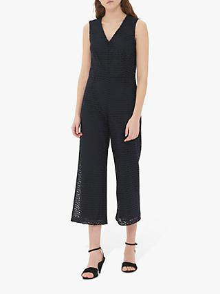 Gerard Darel Noella V-Neck Jumpsuit, Navy