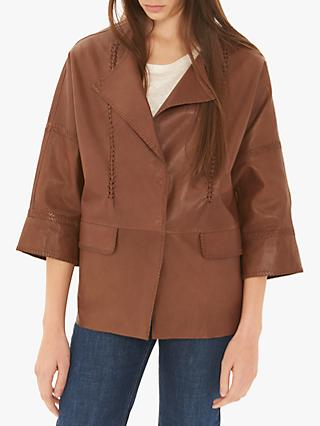 Gerard Darel Olivia Leather Jacket, Brown