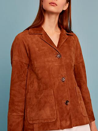 Gerard Darel Oriane Leather Garment, Brown