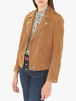 Gerard Darel Ornella Leather Garment, Brown