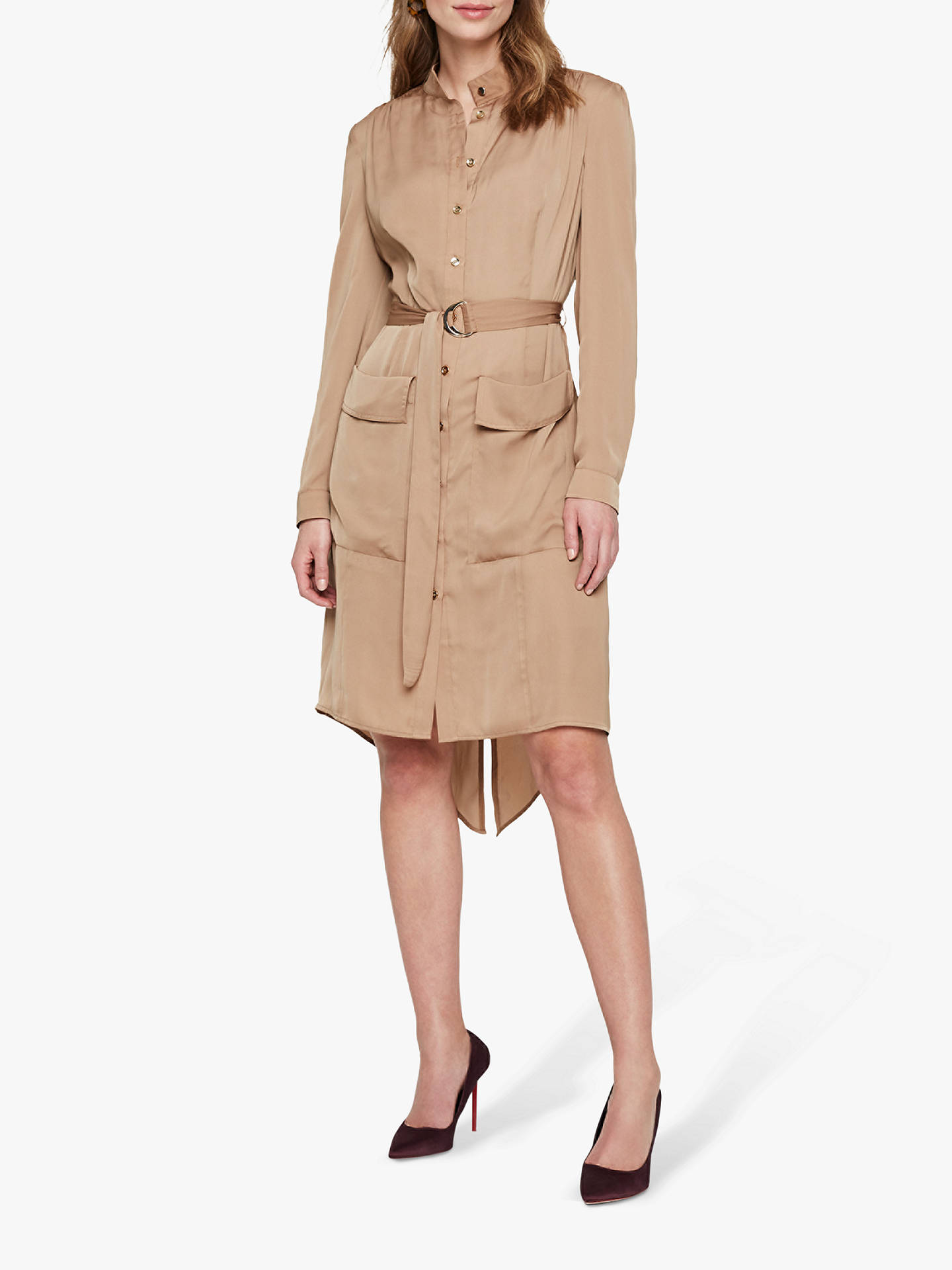 Buy Damsel in a Dress Tulia Tunic Shirt Dress, Camel, 14 Online at johnlewis.com