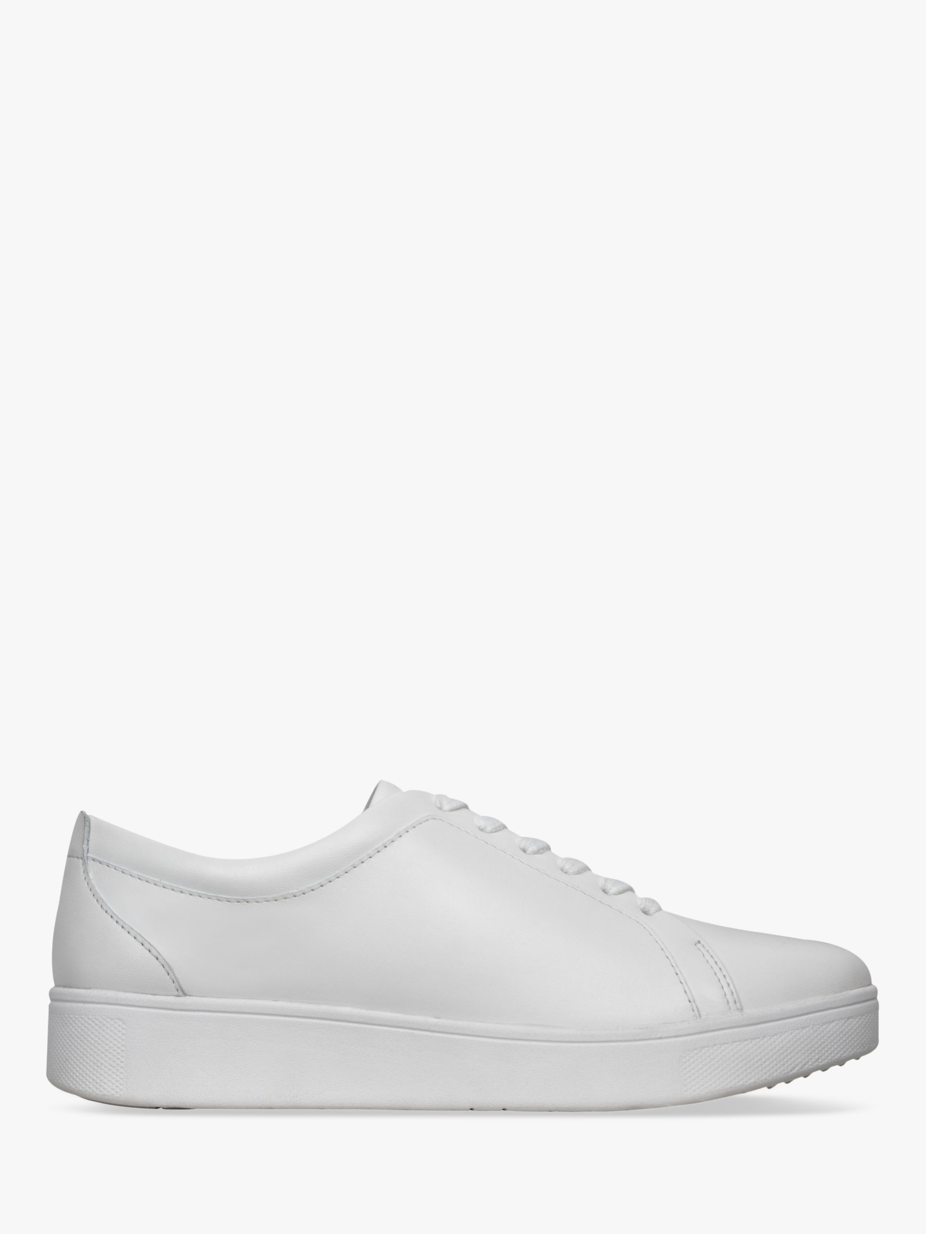 e14f12cbd0533 FitFlop Rally Lace Up Trainers, White Leather at John Lewis & Partners