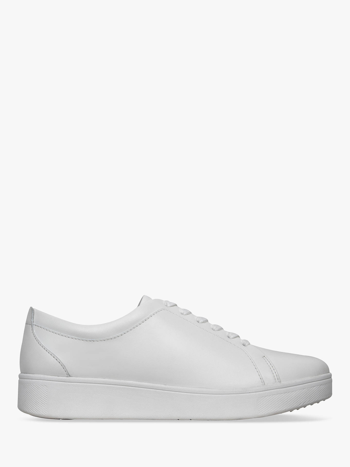 623b8739029c8 Buy FitFlop Rally Lace Up Trainers, White Leather, 3 Online at  johnlewis.com ...