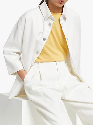 Kin Gathered Back Utility Jacket, White