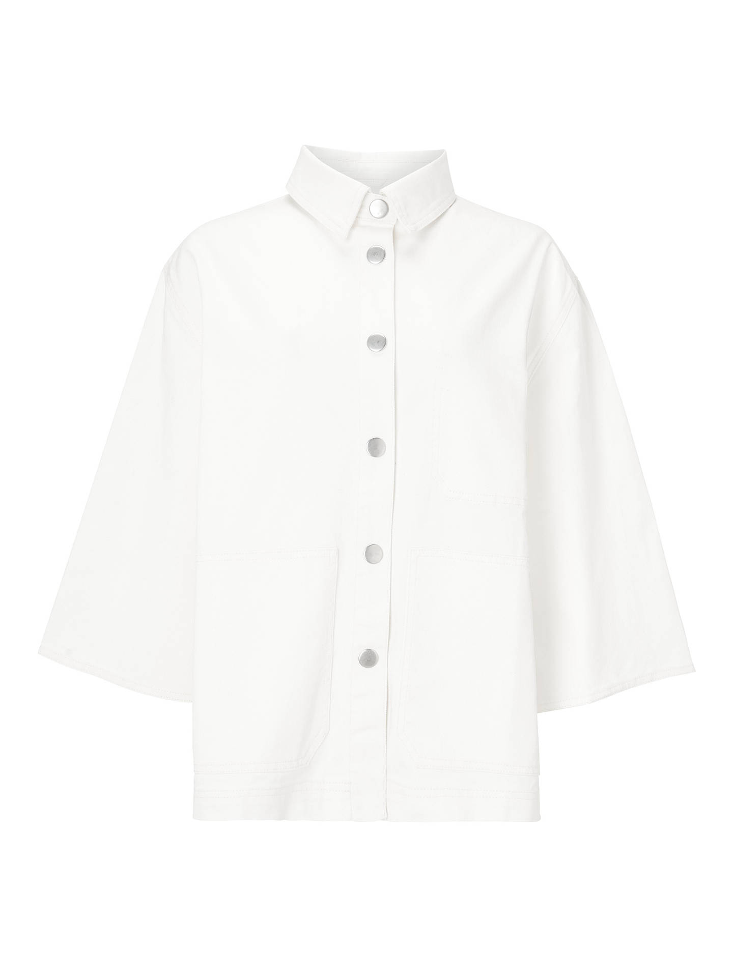 Buy Kin Gathered Back Utility Jacket, White, 14 Online at johnlewis.com