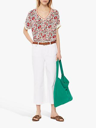 Gerard Darel Nayla Flared Cropped Jeans, White