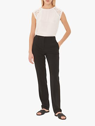 Gerard Darel Noreen Straight Trousers, Black