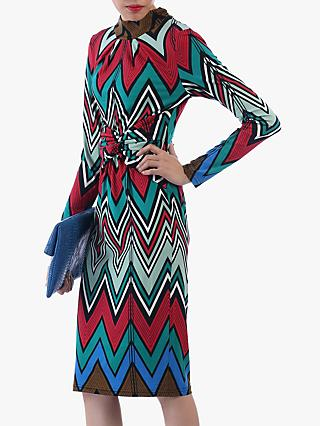 Jolie Moi Twist Body Con Dress, Red/Multi