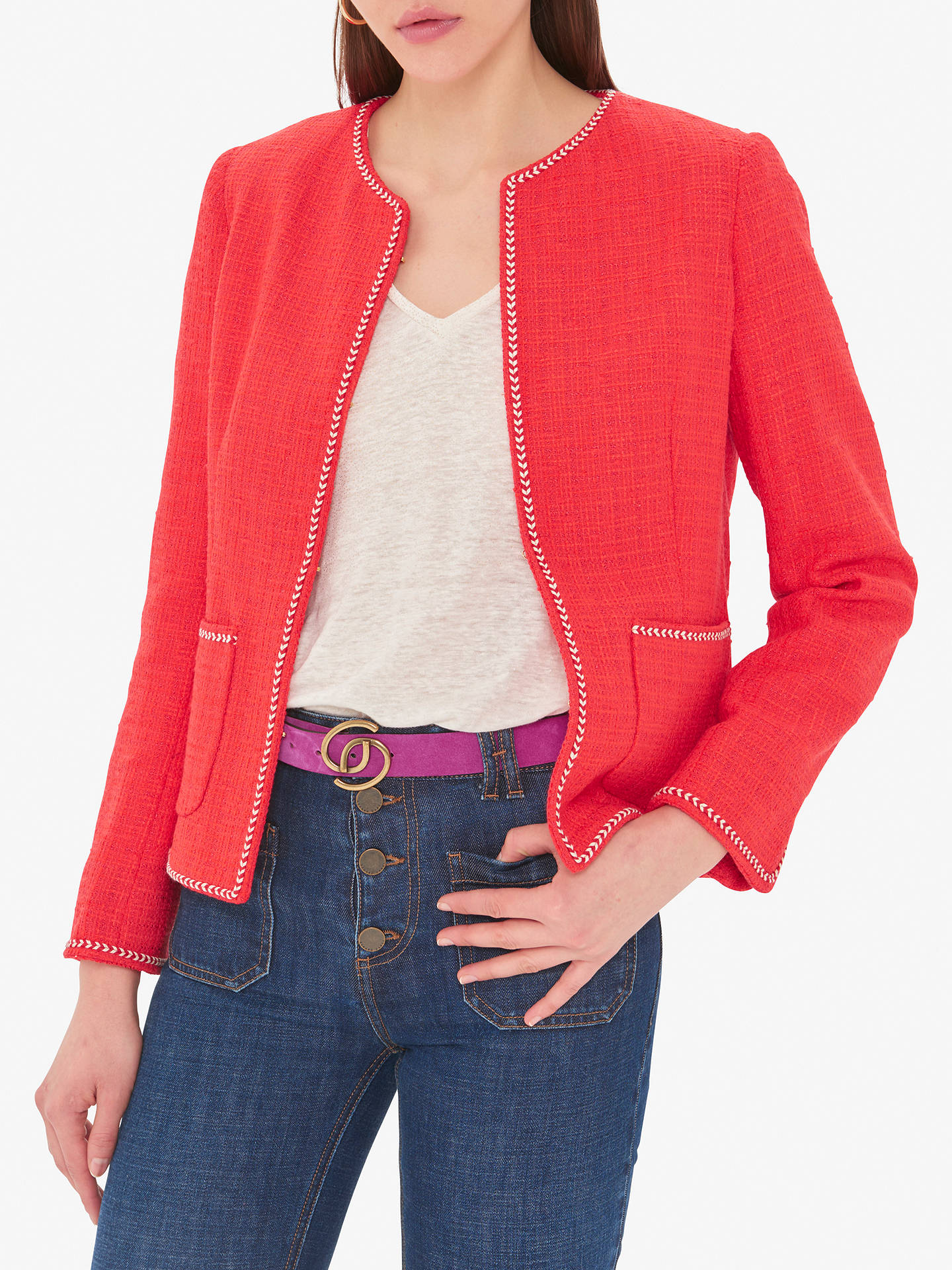 paras hinta upouusi kuuma tuote Gerard Darel Scarlette Textured Jacket, Red at John Lewis ...