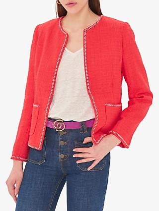 Gerard Darel Scarlette Textured Jacket, Red