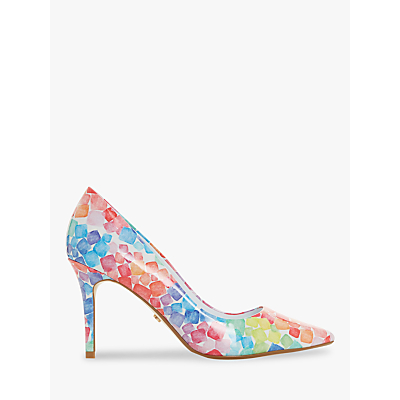 Dune Allsorts Printed Stiletto Heel Court Shoes, Multi