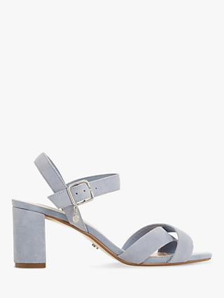 Dune Megz Cross Strap Block Heel Sandals