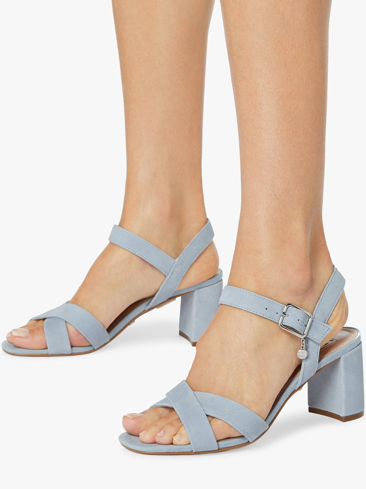 a198348103c5 Dune Megz Cross Strap Block Heel Sandals at John Lewis   Partners