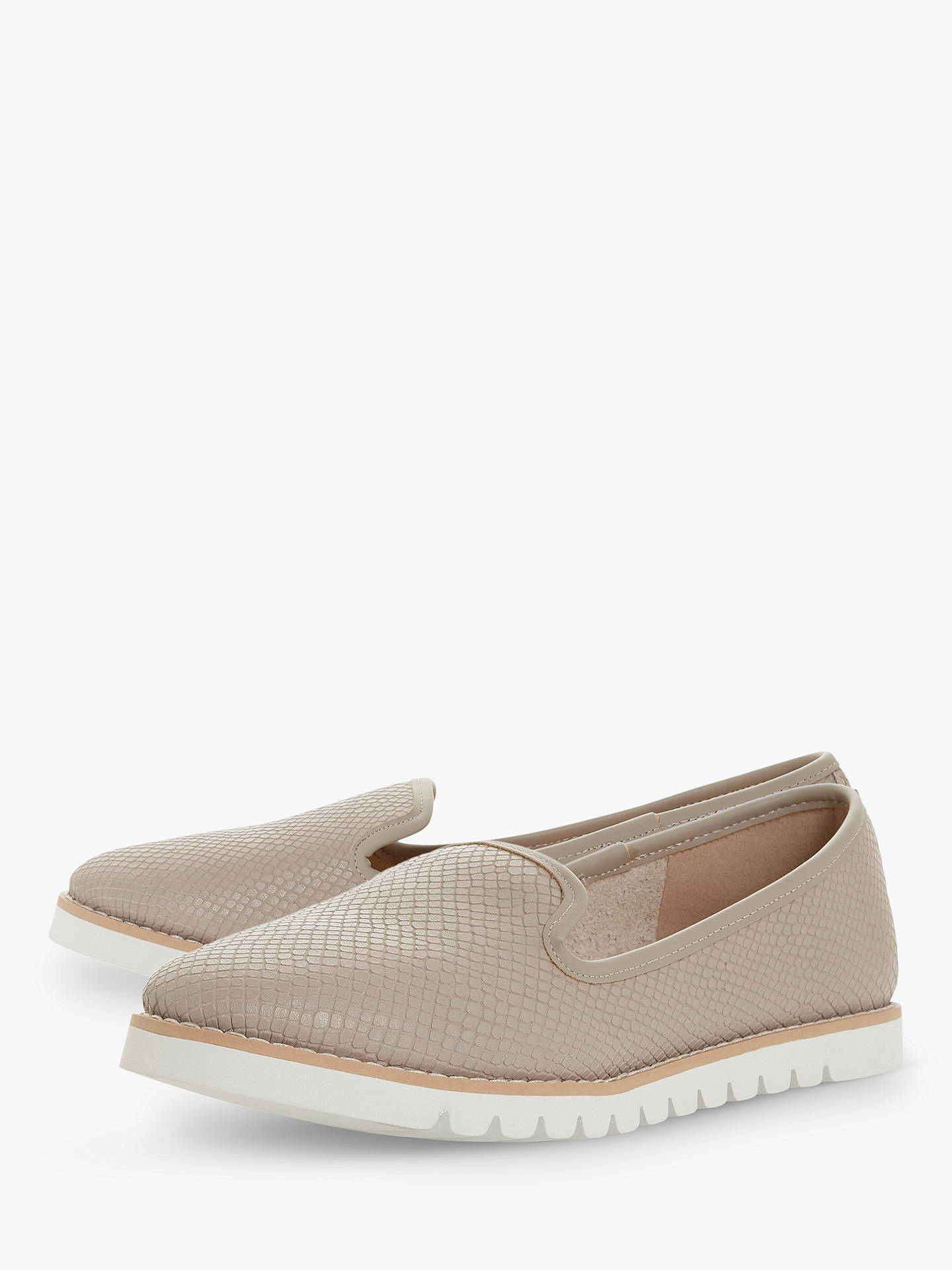 f546db8cb ... Buy Dune Galleon Ridged Loafers, Grey Leather, 3 Online at  johnlewis.com ...