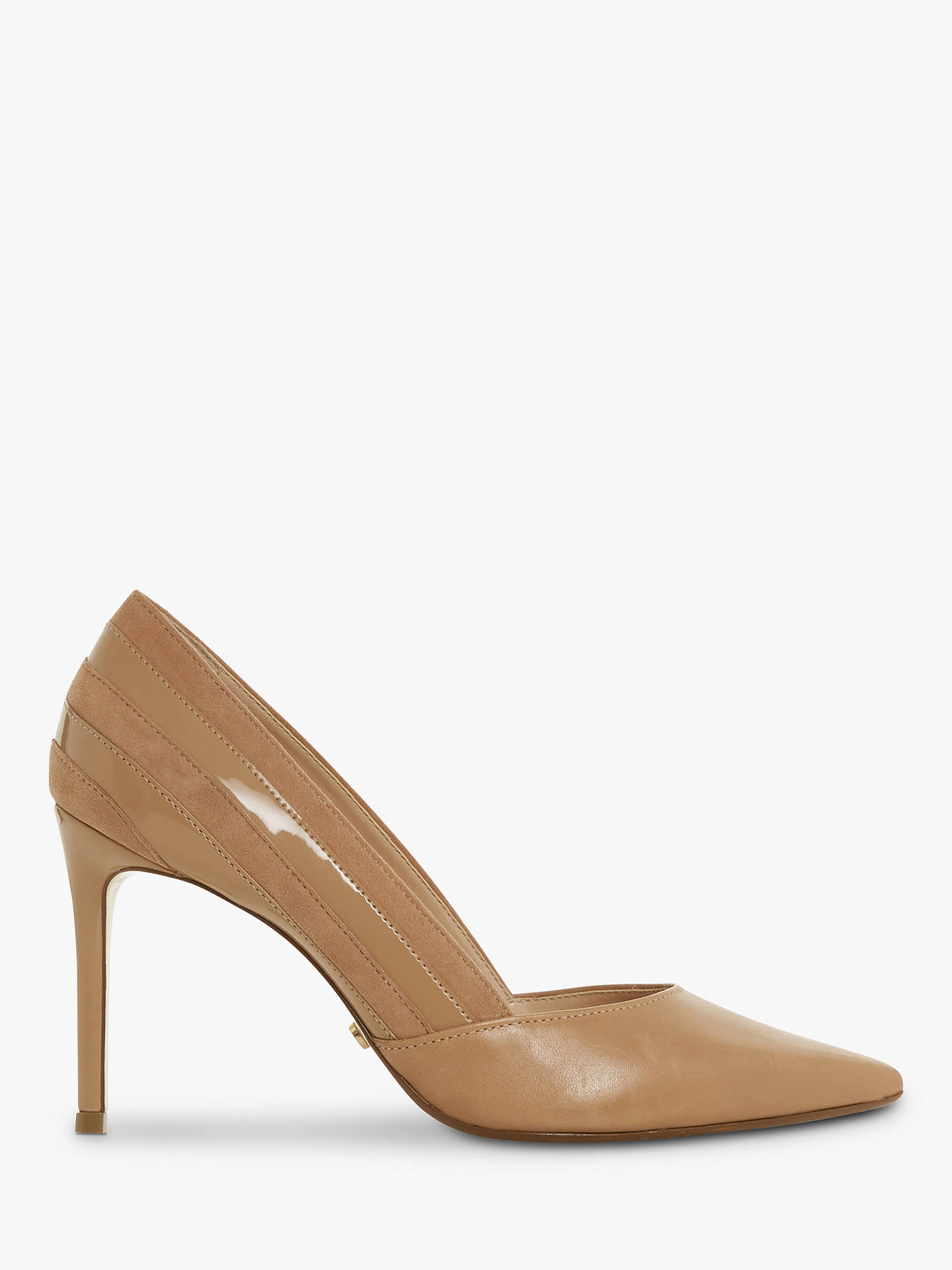 4cad7b516a87 Dune Barrelle Panel Detail Pointed Court Shoes at John Lewis   Partners