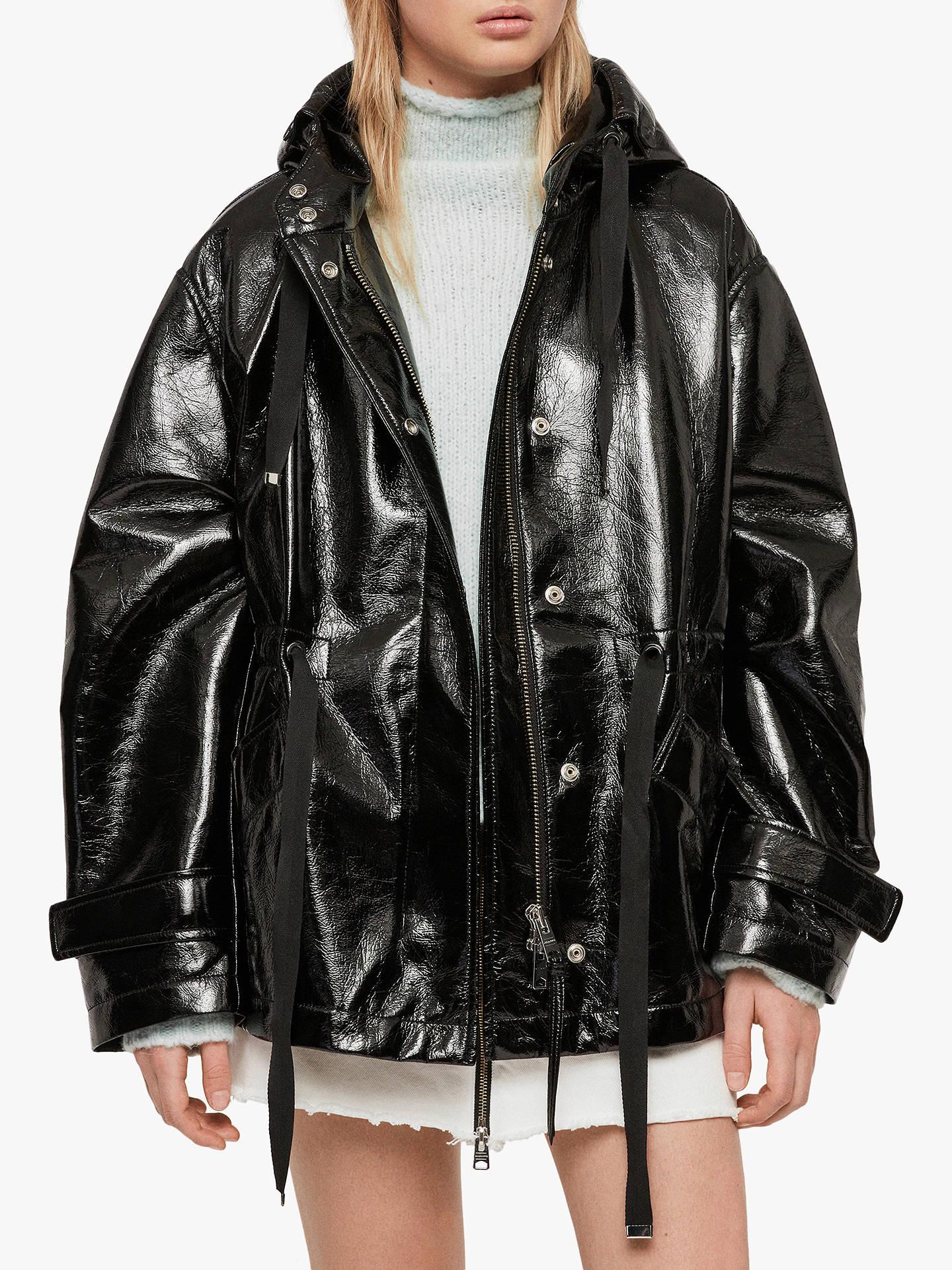 All Saints Kelsie Nya Jacket, Shiny Black by Allsaints