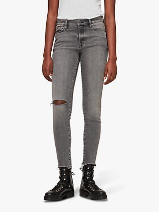 AllSaints Grace Destroy Ankle Jeans, Grey