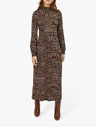 Warehouse Leopard Midi Dress, Multi