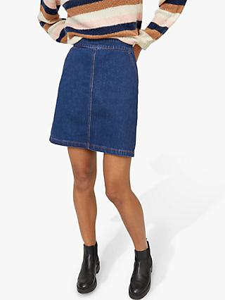 Warehouse A-Line Denim Mini Skirt