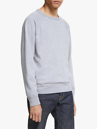 Save Khaki United Fleece Crew Neck Sweatshirt, Heather Grey