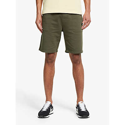 Save Khaki United Supima Fleece Sweatshorts, Olive