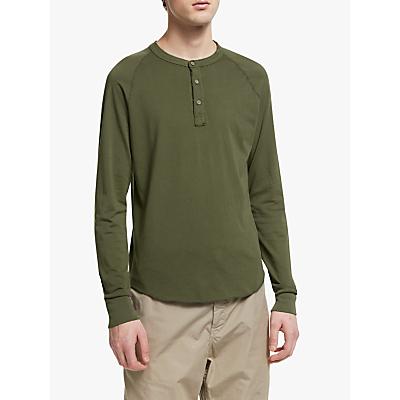 Save Khaki United Supima Henley Long Sleeve T-Shirt, Olive