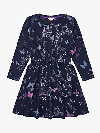 Jigsaw Girls' Butterfly Dress, Navy
