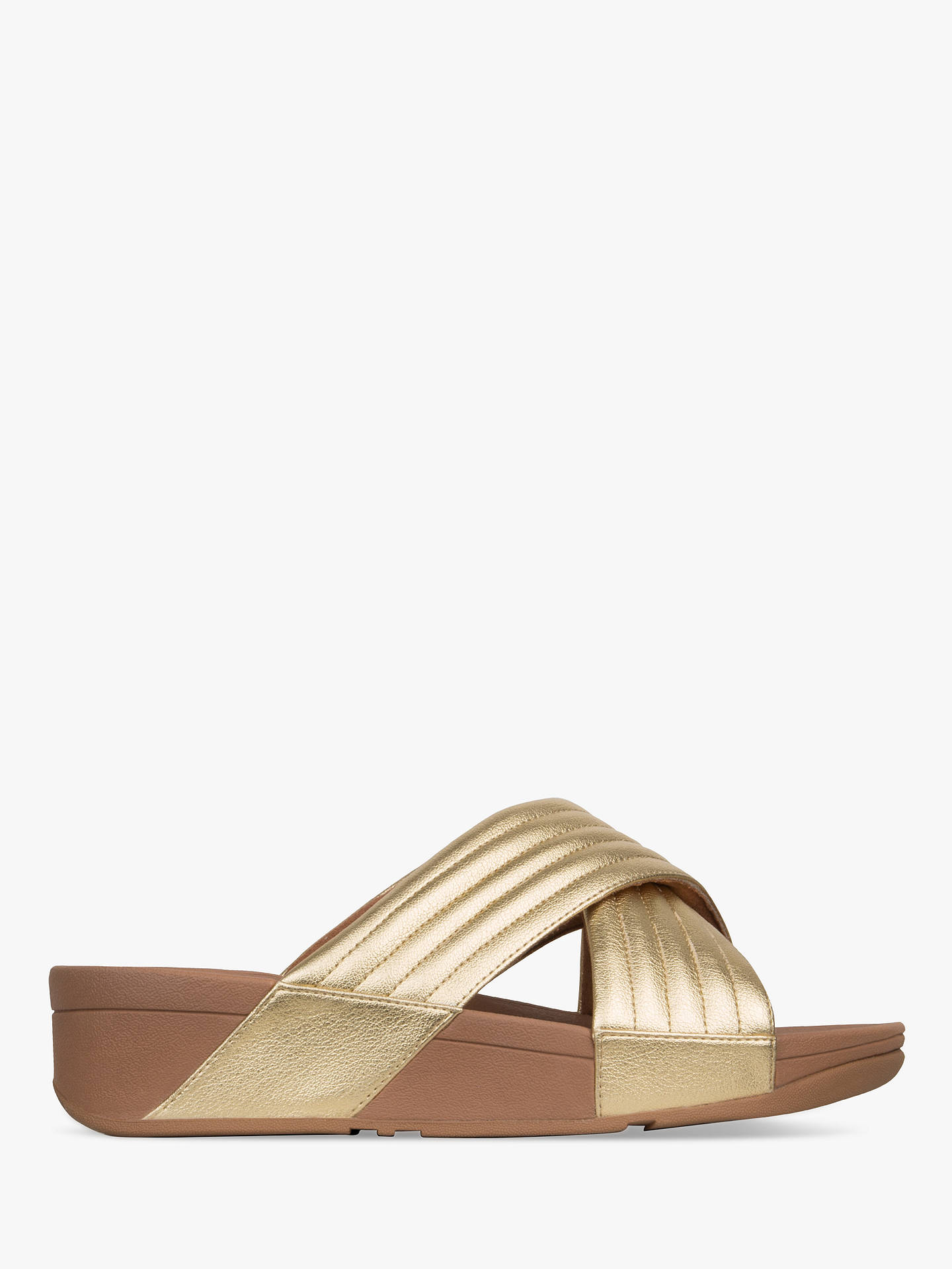 3b612f6686 FitFlop Lulu Padded Cross Slider Sandals at John Lewis   Partners
