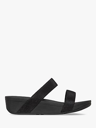 FitFlop Lottie Glitzy Slider Sandals, Black