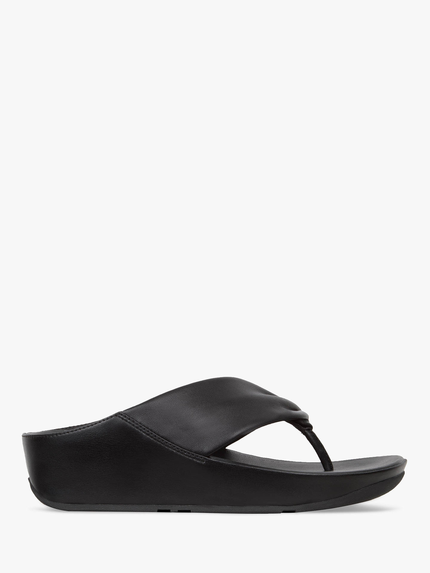 promo code 952d6 49f81 FitFlop Twiss Toe Post Sandals, Black Leather