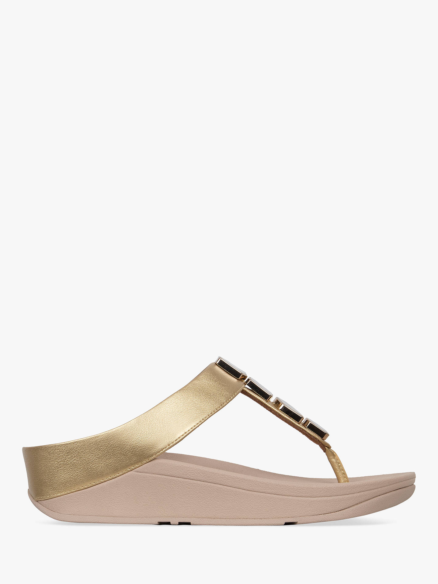 b3c9d41f018 FitFlop Fino Shellstone Toe Post Sandals at John Lewis   Partners