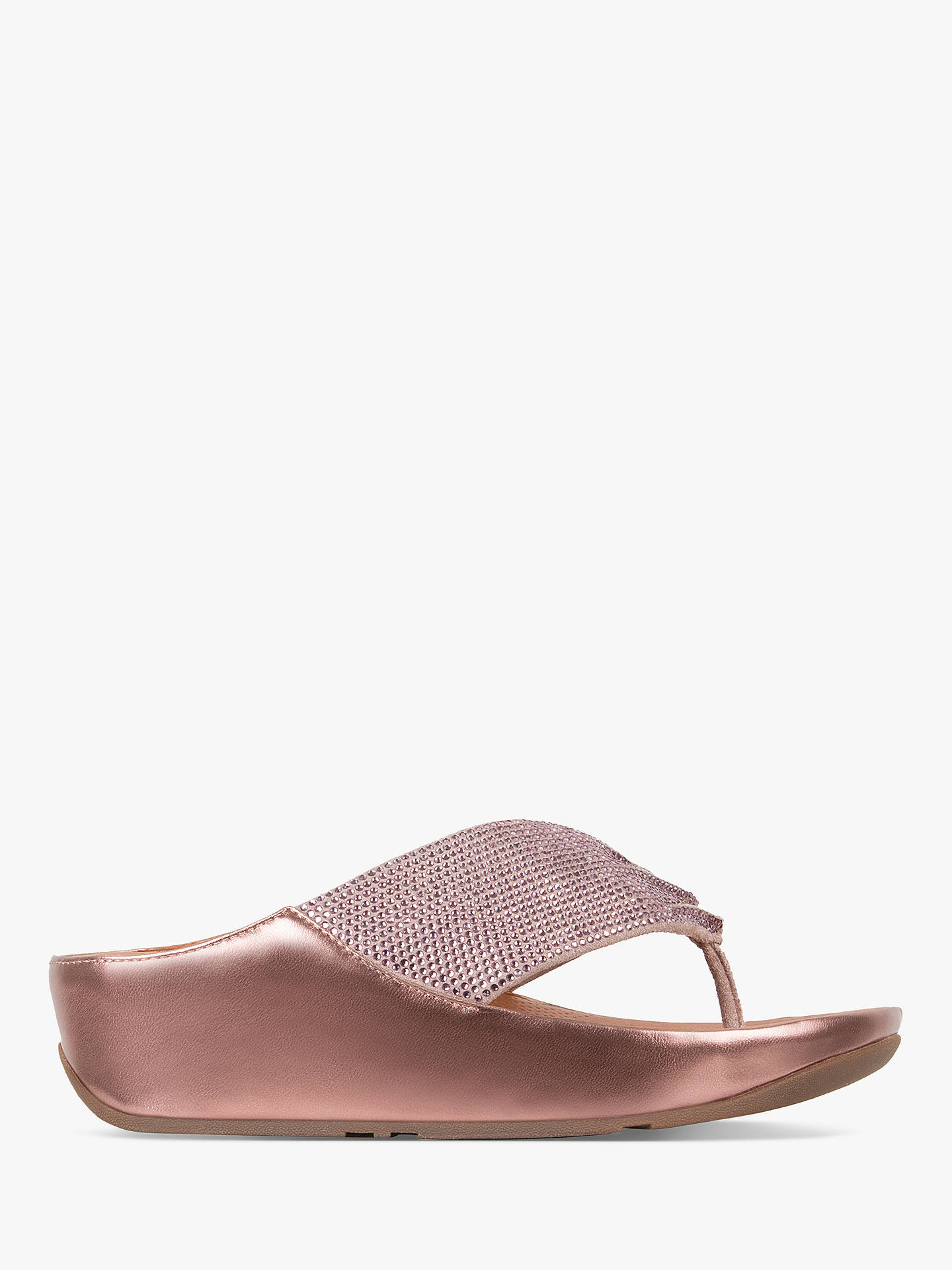 7fbca08789 FitFlop Twiss Crystall Toe Post Sandals at John Lewis   Partners