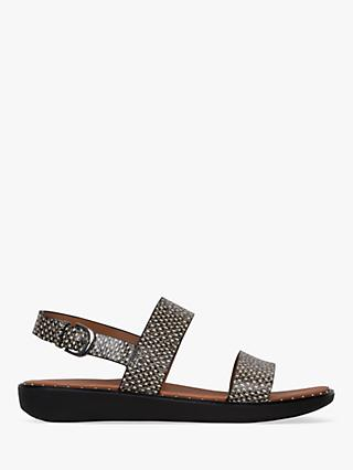 FitFlop Barra Double Strap Sandals, Snake Print Leather