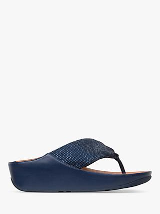 FitFlop Twiss Crystall Toe Post Sandals, Navy