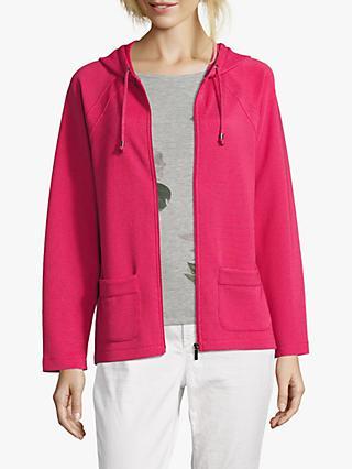 Betty & Co. Cosy Fine Ribbed Hoodie, Red Raspberry