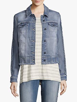Betty & Co. Distressed Denim Jacket, Blue