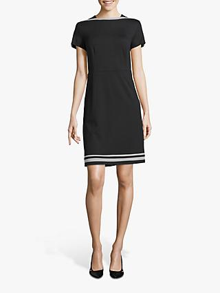 Betty & Co. Scalloped Sleeve Shift Dress, Black