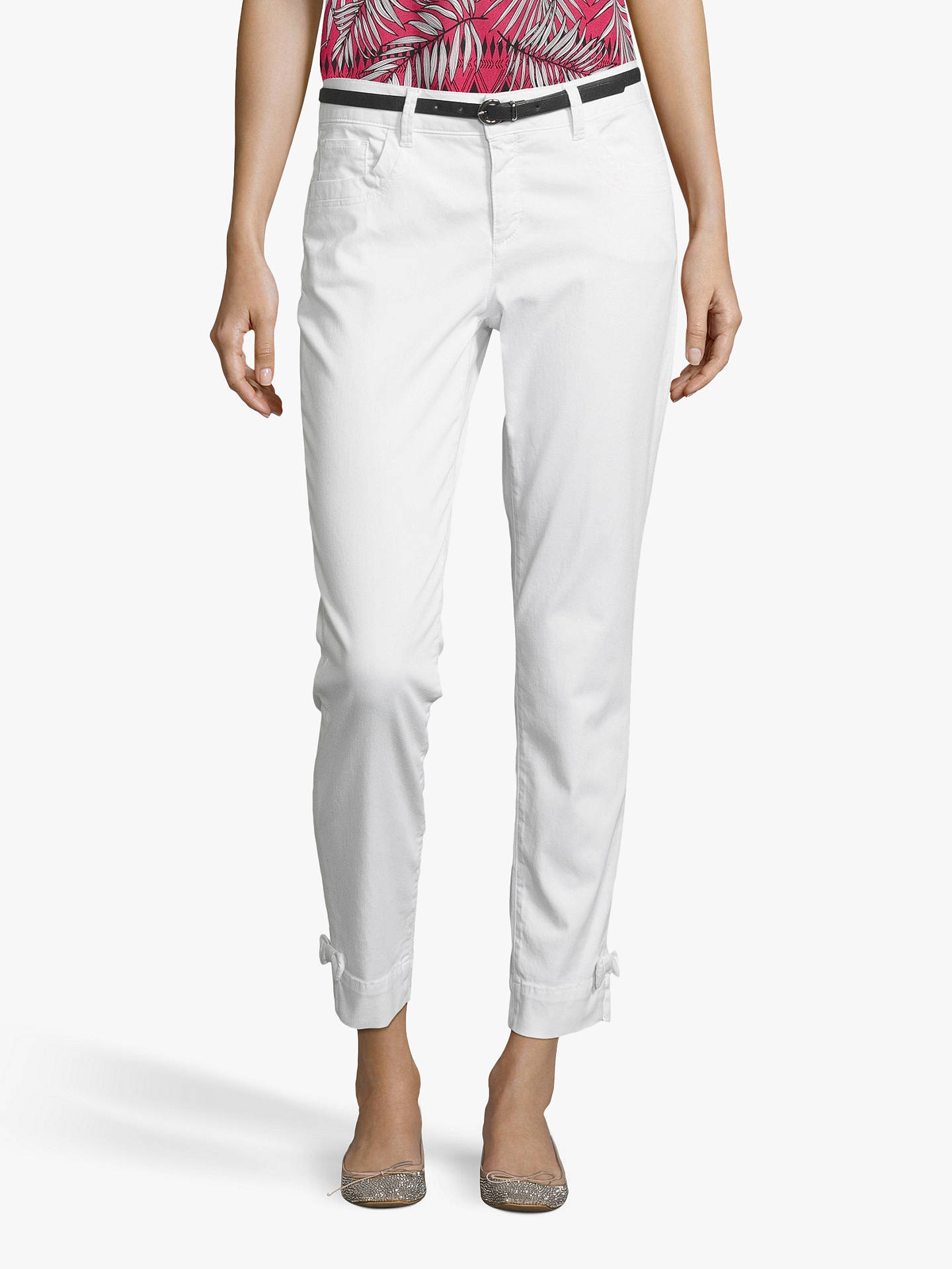 Buy Betty & Co. Cropped Skinny Jeans, Bright White, 14 Online at johnlewis.com