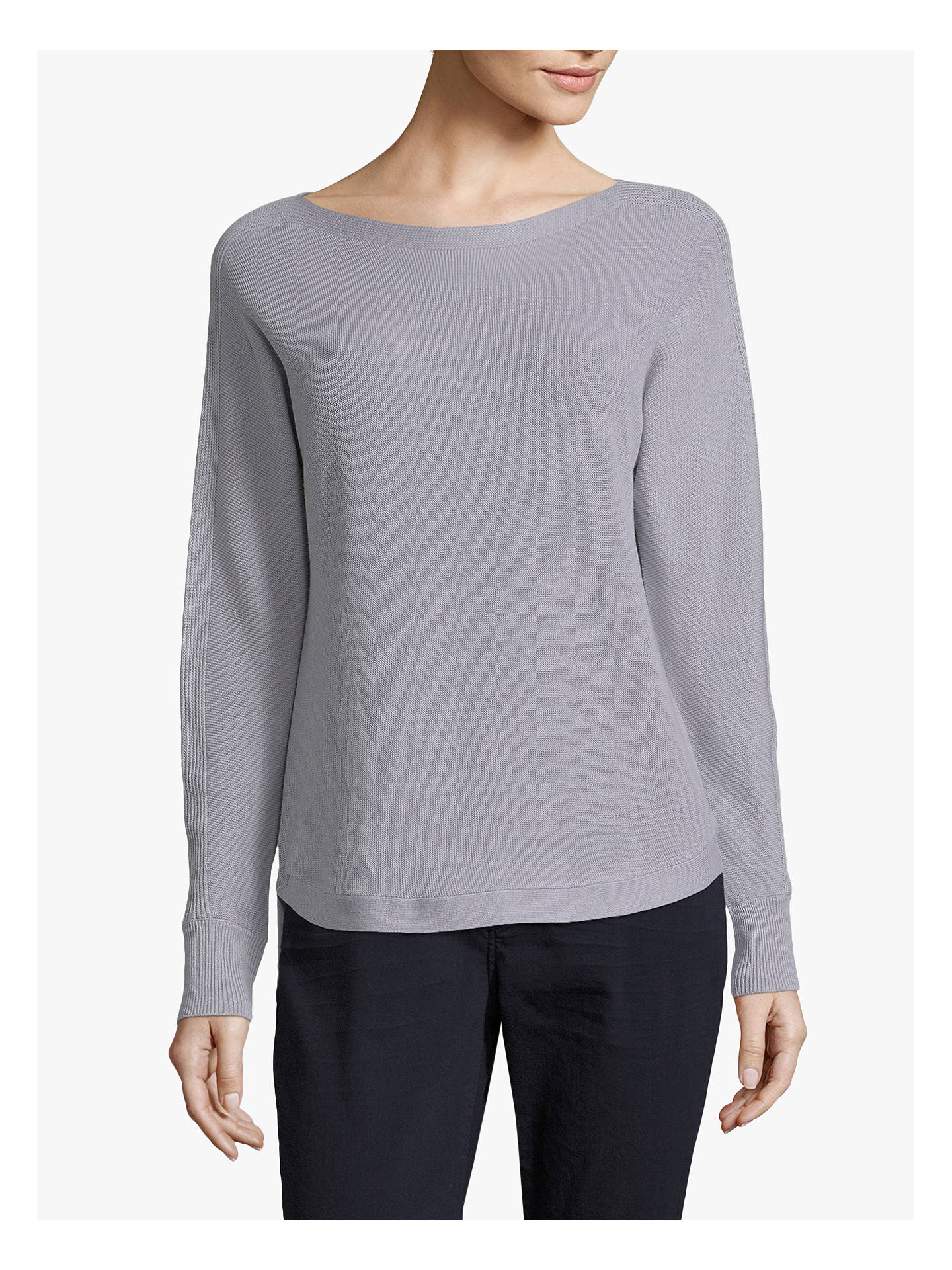 Buy Betty & Co. Long Sleeve Knit Jumper, Light Silver Melange, 18 Online at johnlewis.com
