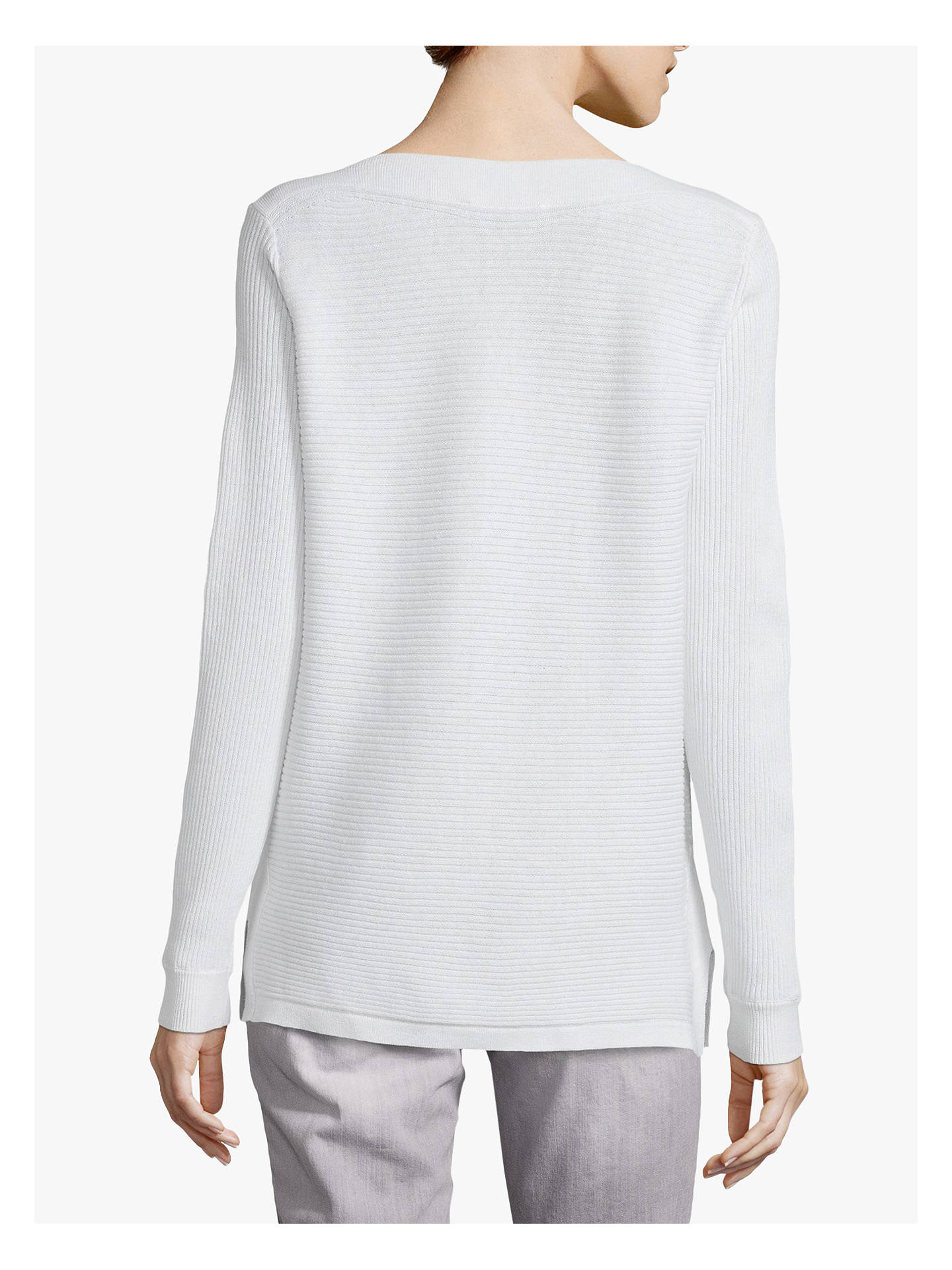 Buy Betty & Co. Ribbed Jumper, White, 12 Online at johnlewis.com