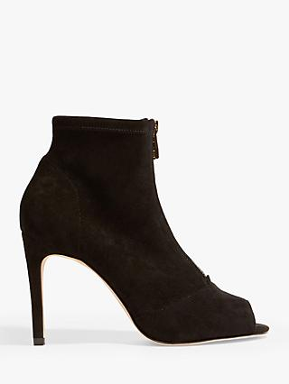 9c44c9db1986 Karen Millen Peep Toe Zip Stiletto Heel Ankle Boots