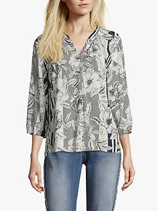 Betty & Co. Floral Print Blouse, Blue/White
